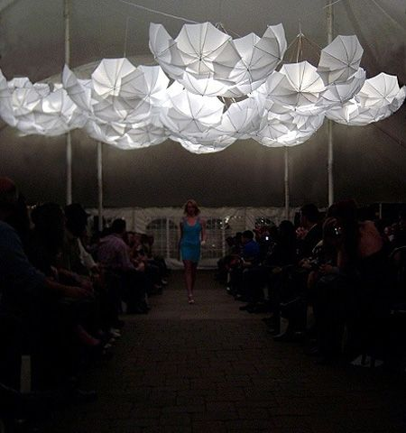 umbrella lighting would be perfect for outdoors #artinstallation