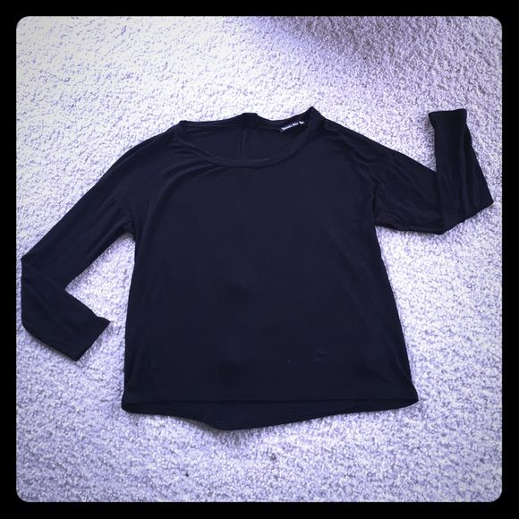 Double Zero black zip back top blouse S This is a black shirt top blouse that zips up the back, purchased from Francesca's Collections in size small. It is in good condition. Thanks for looking!!! Francesca's Collections Tops Blouses