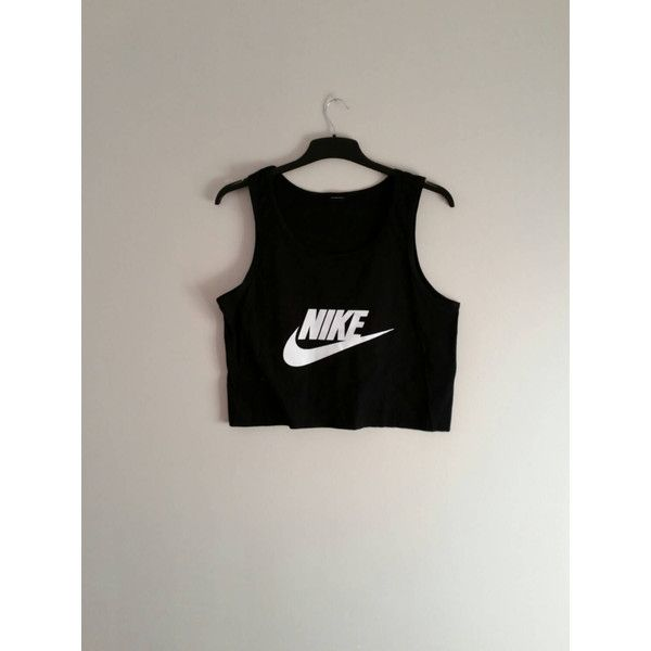 f95e4d48bf03 Unisex Customised Nike Crop Top Vest Top Tshirt One Size Festival Swag  ( 21) ❤ liked on Polyvore featuring tops