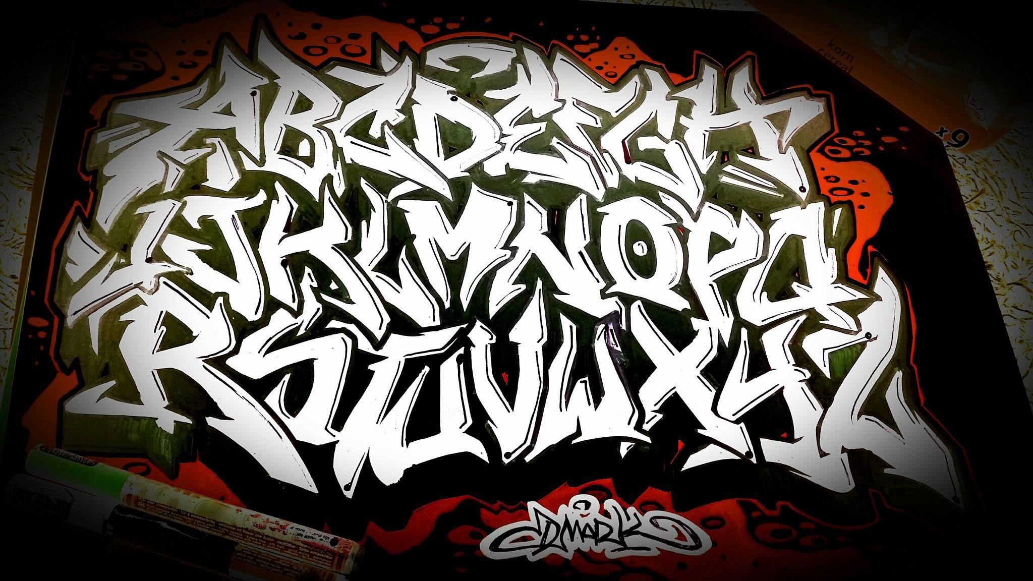 Dmark Grafitti Alphabet Graffiti Lettering Alphabet Font Alphabet Alphabet Style Chicano Lettering