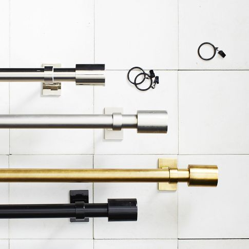 Finally Somebody Is Making The Brass Rods We Ve Been Wanting Thank You West Elm Modern Curtain Rods Window Hardware Cheap Curtain Rods