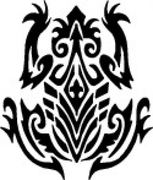 Tribal frog top view design | frogmom | Tribal tattoos ...