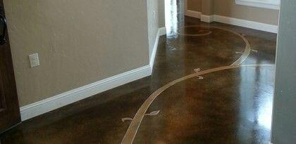 Concrete flooring vines