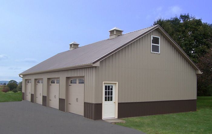 Pole building garage garages home improvement ideas for Pole barn with loft