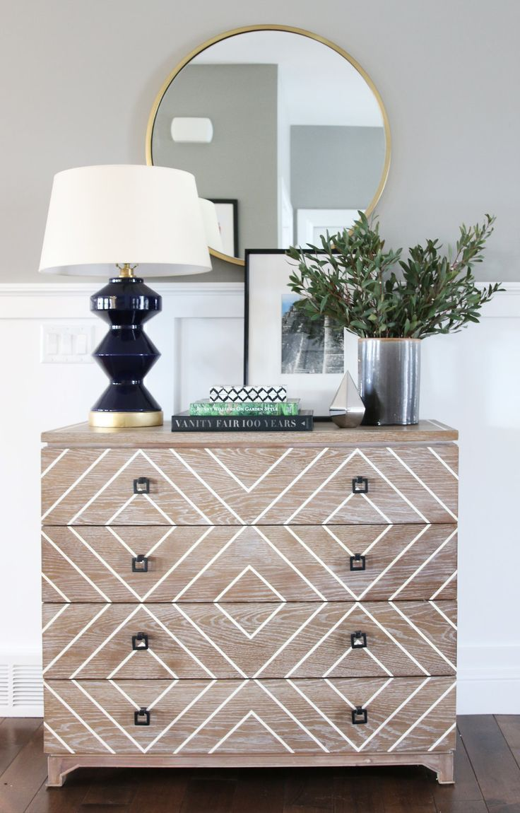 Perfectly Styled Dresser Gold Accents Add Shine Love The Drawer Detail And Square Pulls