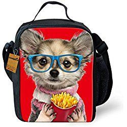 23d3542ef149 Fries Dog 3D Print Insulated Lunch Bag Totes Keep Hot And Cold For ...