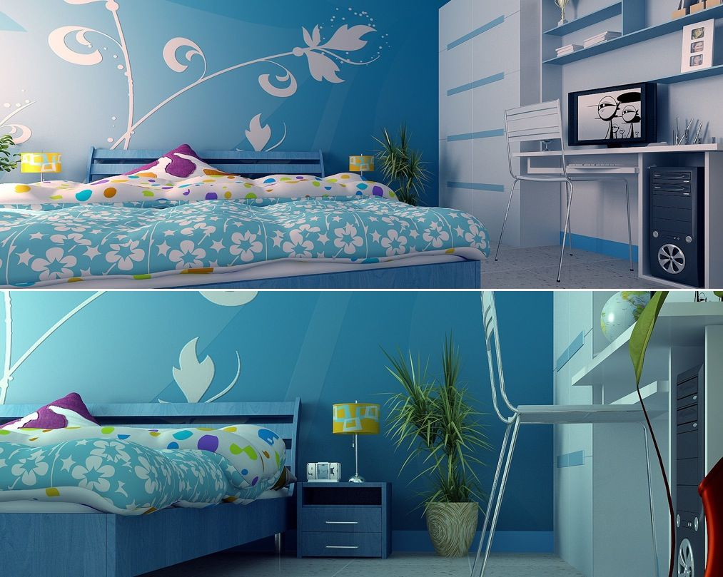 kids room blue decor kids room with computer desk kids bedroom design modern purple bedroom design. Interior Design Ideas. Home Design Ideas