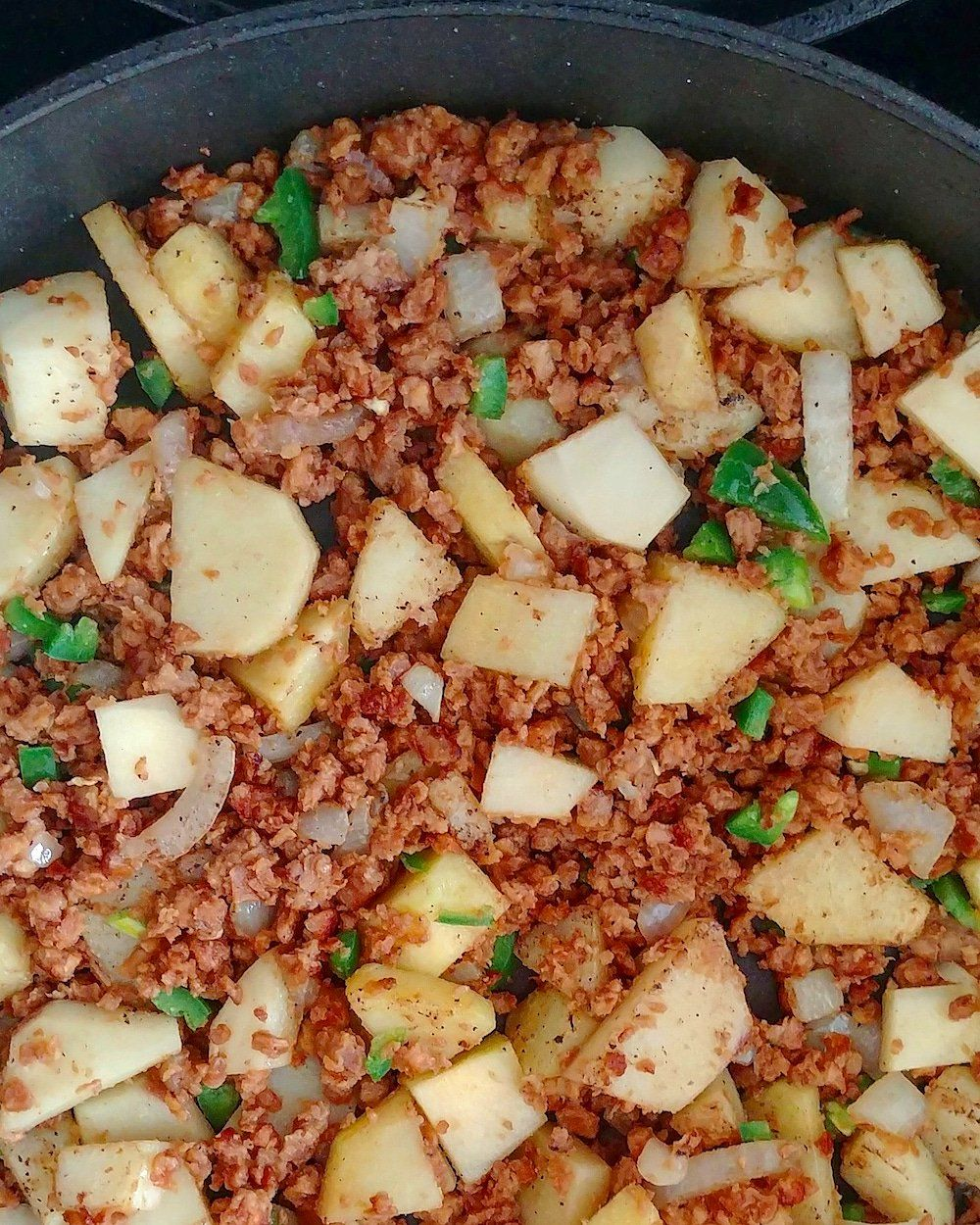 Vegan Mexican Recipes Picadillo Con Papas Ground Beef With Potatoes Ground Beef And Potatoes Vegan Mexican Recipes Gardein Recipes Vegan