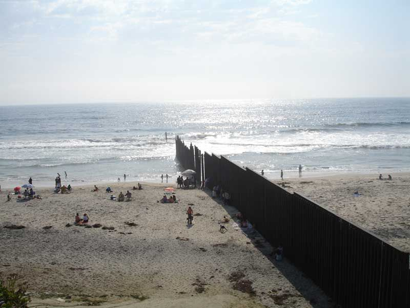 Mexico u2013 United States barrier at the