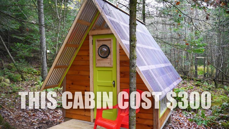 This Tiny Off Grid Cabin Was Built For Just 300 Diy Tiny House Eco House Design Recycled House