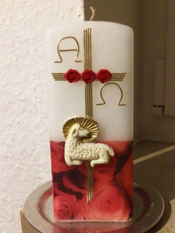 Osterkerze Sponsored By Www Wachspalette Kerzen Verzieren De
