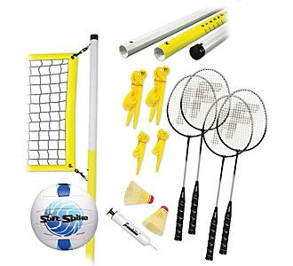 Franklin Advanced Badminton And Volleyball Combo Set Scheels Badminton Set Volleyball Set Franklin Sports