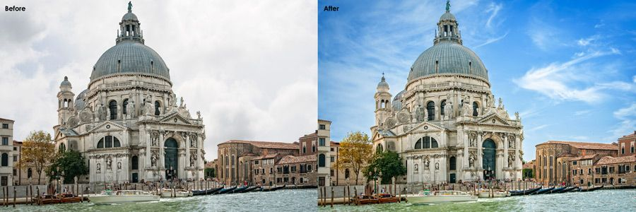 Enhance the visual impact of your real estate property images with our real estate sky replacement services at affordable cost.