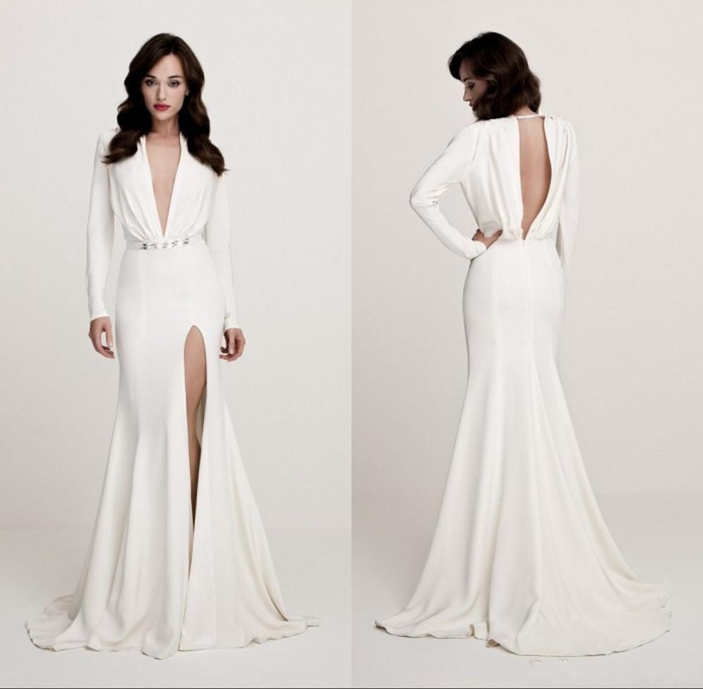 Long sleeve black wedding dresses  Bridal Dresses Cheap Best Selling Wedding Dresses Vintage Deep V