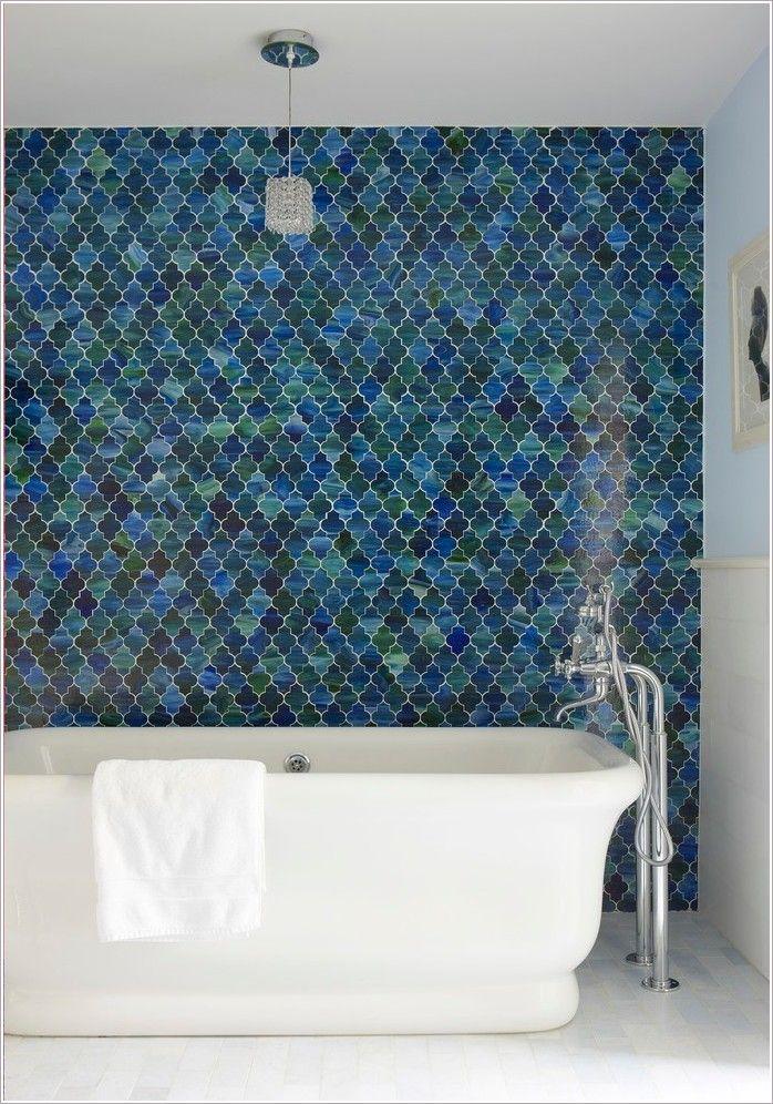 Ann Sachs Custom Tile Beautiful Tile Wall Blue Tile