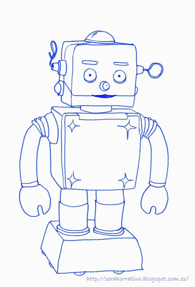 Láminas Para Colorear Gratuitas De Robots Crafts Crafts