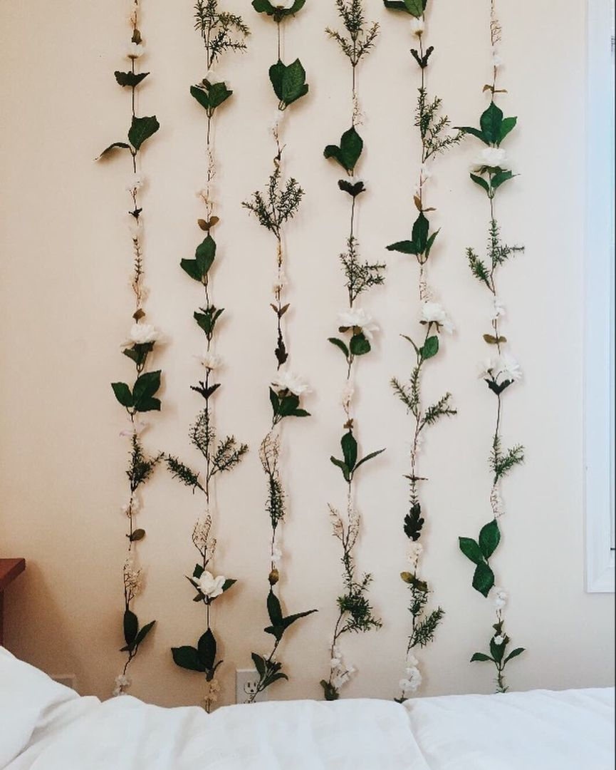 Bohemian Hippie Floral Wall Hanging Diy For My Apartment Bedroom Simply Hot Glue Crafting Flowe Hanging Flower Wall Diy Wall Hanging Flower Wall Decor Bedroom
