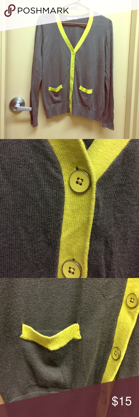 Old navy grey and green cardigan size large 6 buttons. Two cute ...