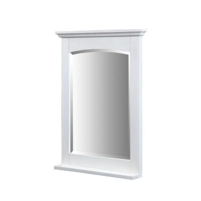 Xylem Kent 32 In X 24 In Ash Framed Wall Mirror In Whitewash M Kent 24wt At The Home Depot Tablet Frames On Wall Framed Mirror Wall Mirror Wall