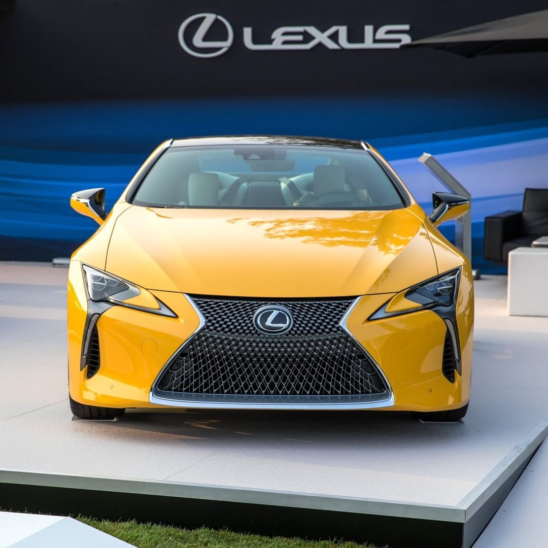 From Lexus This Yellow Shows No Caution Pebblebeachconcours