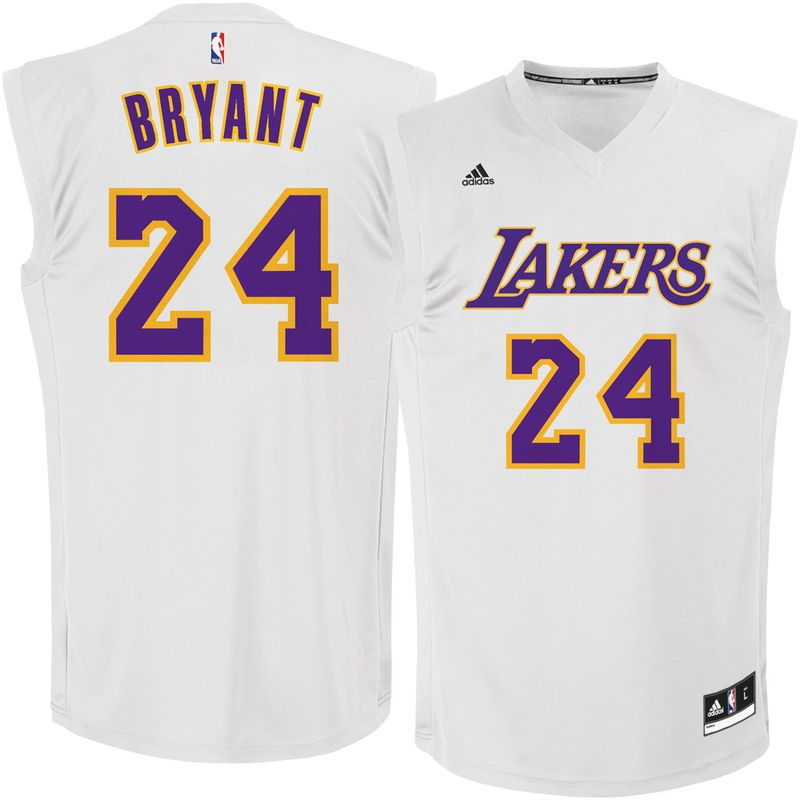 adbab7c2a9e Kobe Bryant Los Angeles Lakers adidas Chase Fashion Replica Jersey - White
