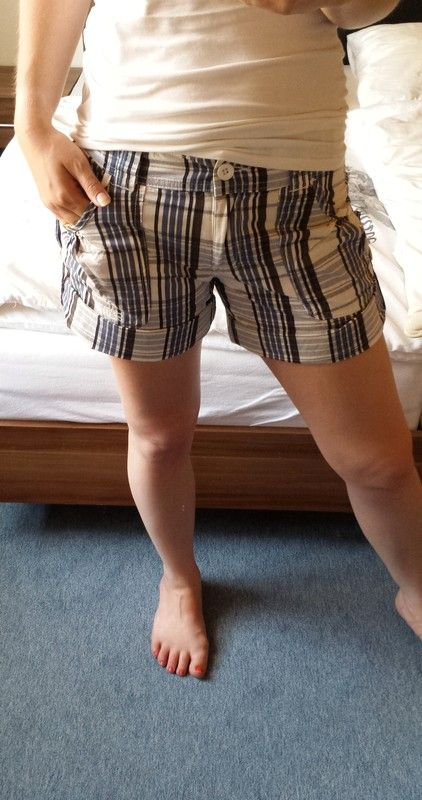 b00e8c61936139 FlashLights Shorts weiß/blau/grau - kleiderkreisel.de | Flohmarkt ...