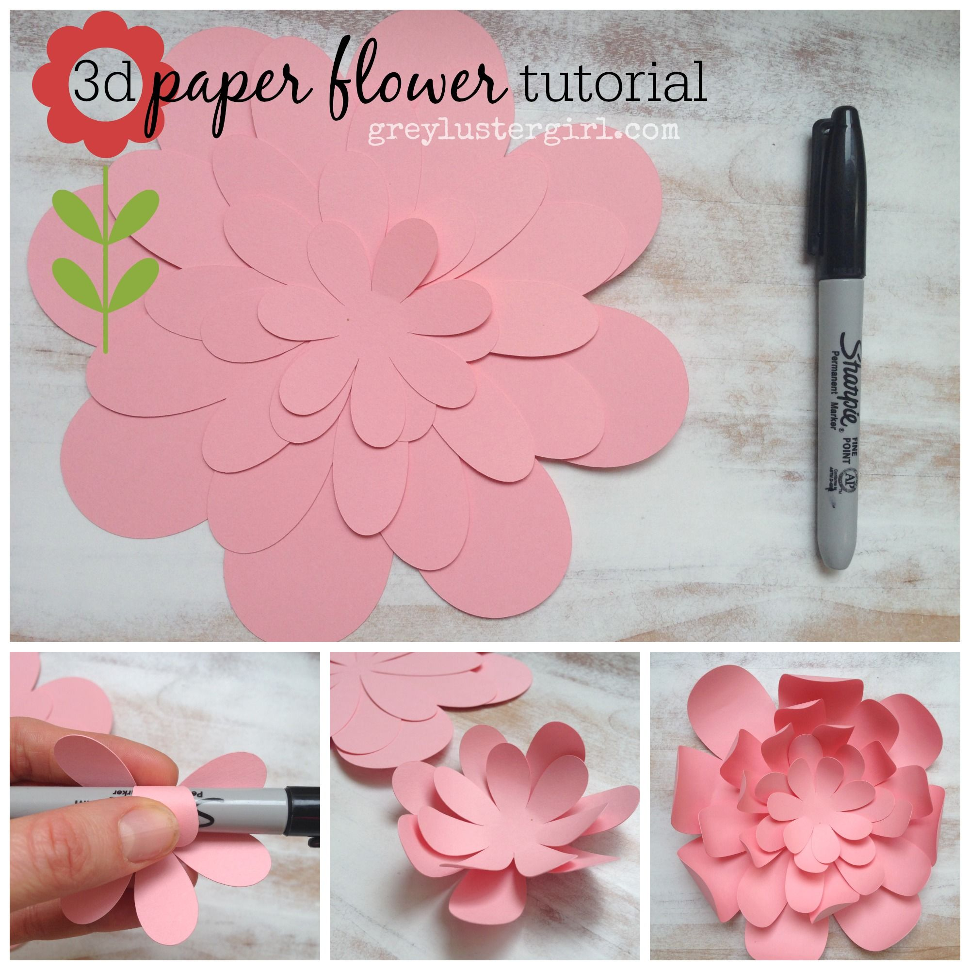 3d Paper Flower Tutorial Awesome Idea Must Try Embrace