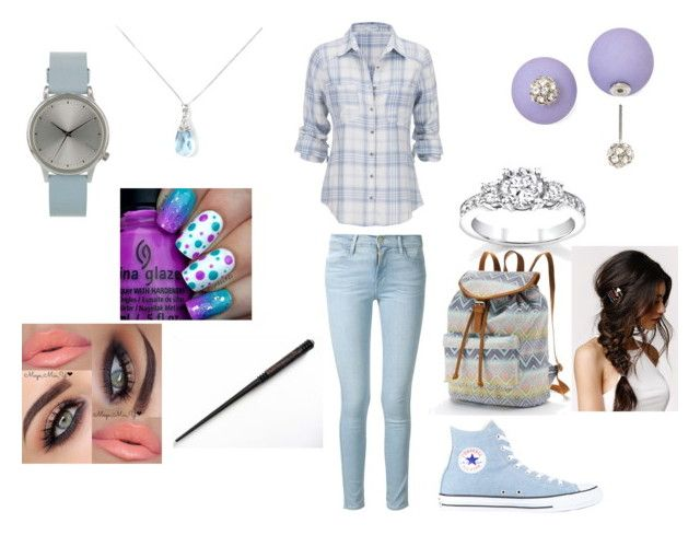 """Agrona"" by ridafatima2315 ❤ liked on Polyvore featuring beauty, maurices, Frame Denim, Komono, Decree, YooLa, Converse, With Love From CA and Candie's"