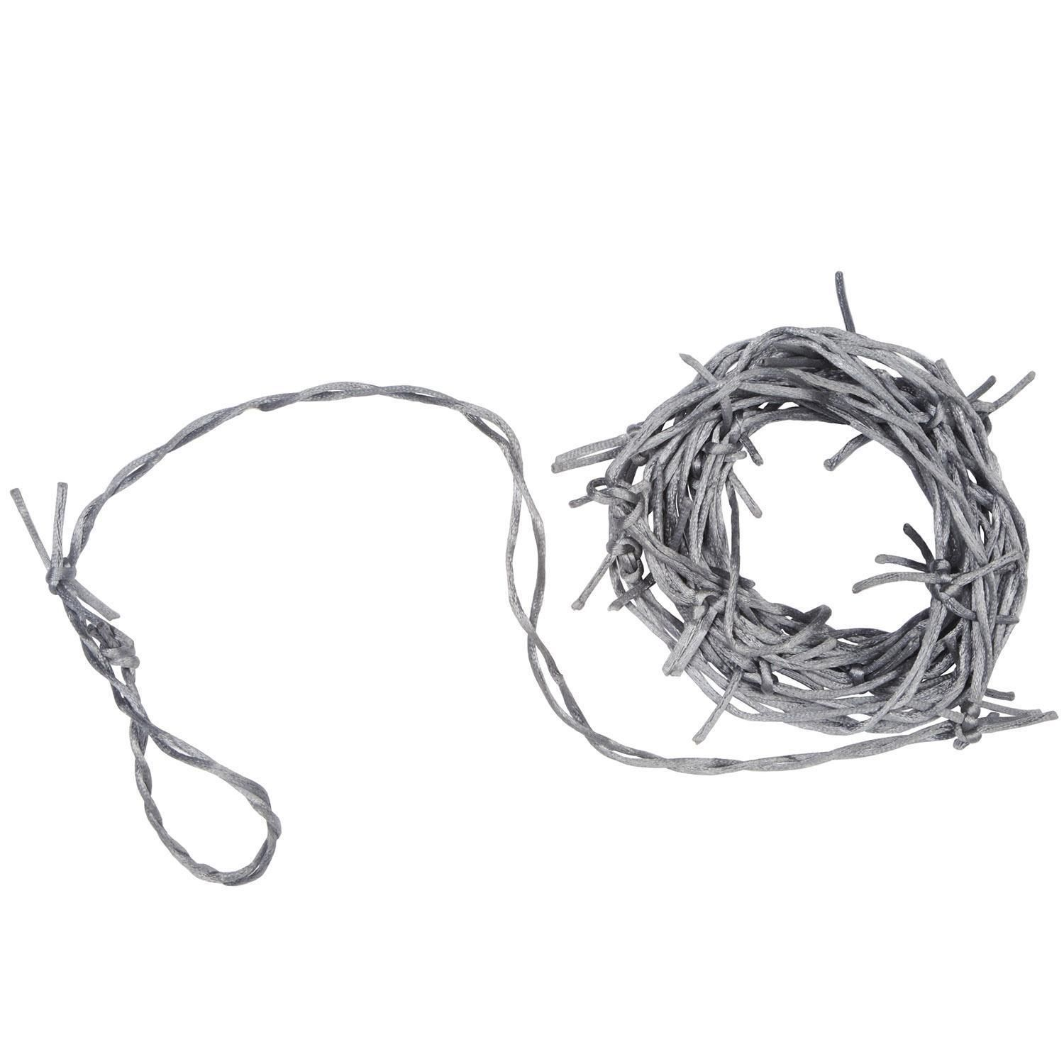 Halloween 2020 Cable Silver Barbed Wire Garland in 2020 | Halloween party supplies