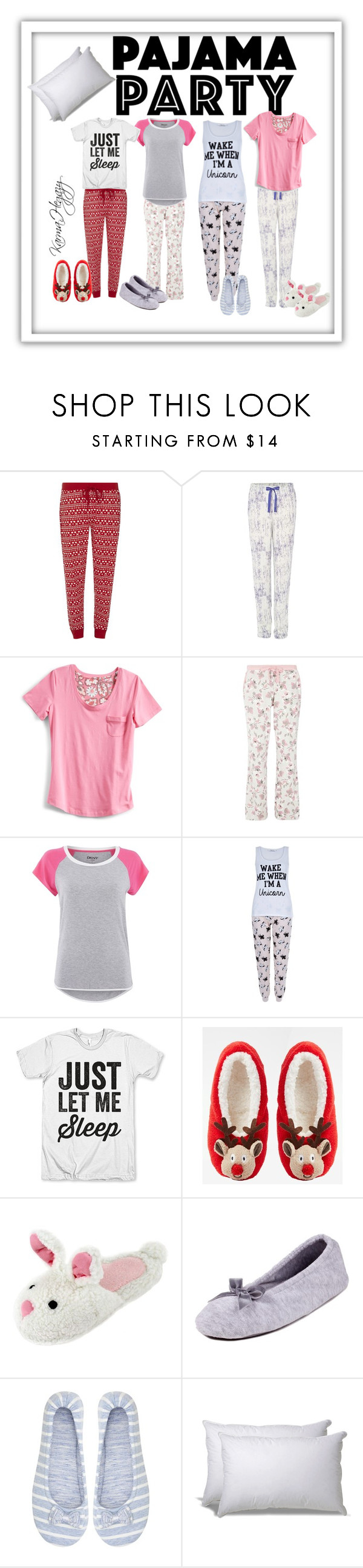 """Pajama Party"" by karmahegazy ❤ liked on Polyvore featuring Dorothy Perkins, Calvin Klein, Vera Bradley, DKNY, New Look, ASOS, Totes, M&Co and ExceptionalSheets"