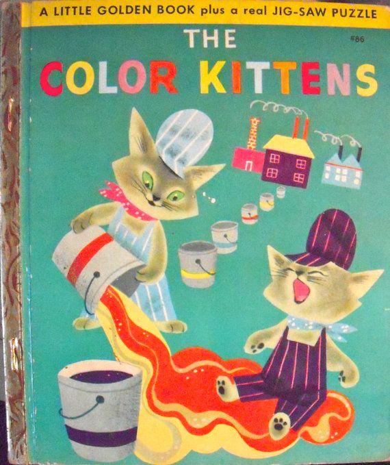1949 The Color Kittens 86 Little Golden Book Puzzle Edition Etsy Little Golden Books Alice Martin Favorite Childhood Books