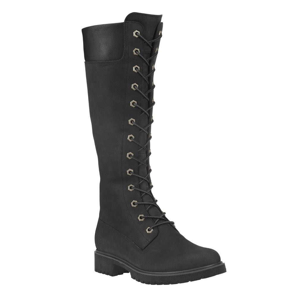 Women's 14 Inch Premium Lace Waterproof Boots