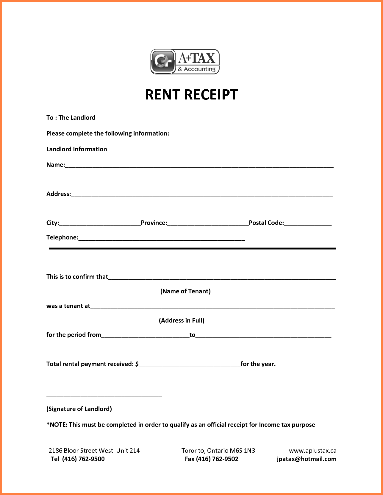 Official Receipt Sample Format Family Reunion Invitation Payment