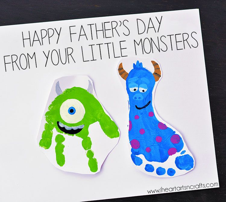 Monsters Inc Inspired Footprint Art - I Heart Arts n Crafts