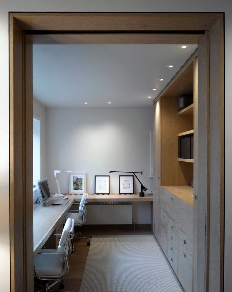 Home Office Contemporary Design Ideas With Artword Built In Cabinets .