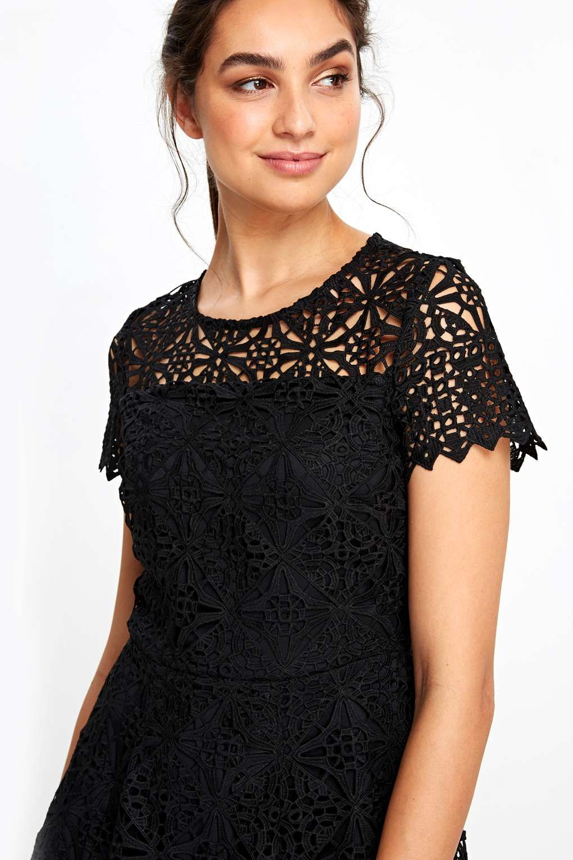 Black Crochet Lace Dress Crochet lace dress, Lace dress