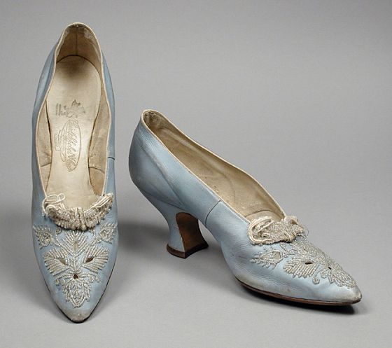Pumps - c. 1912 - by Rosenthal's, Inc. and Laird, Schober & Co. - Kid leather, glass beads, leather; embroidery - The Los Angeles County Museum of Art