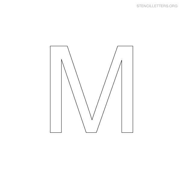 Free Printable Block Letter Stencils Stencil Letters M Printable