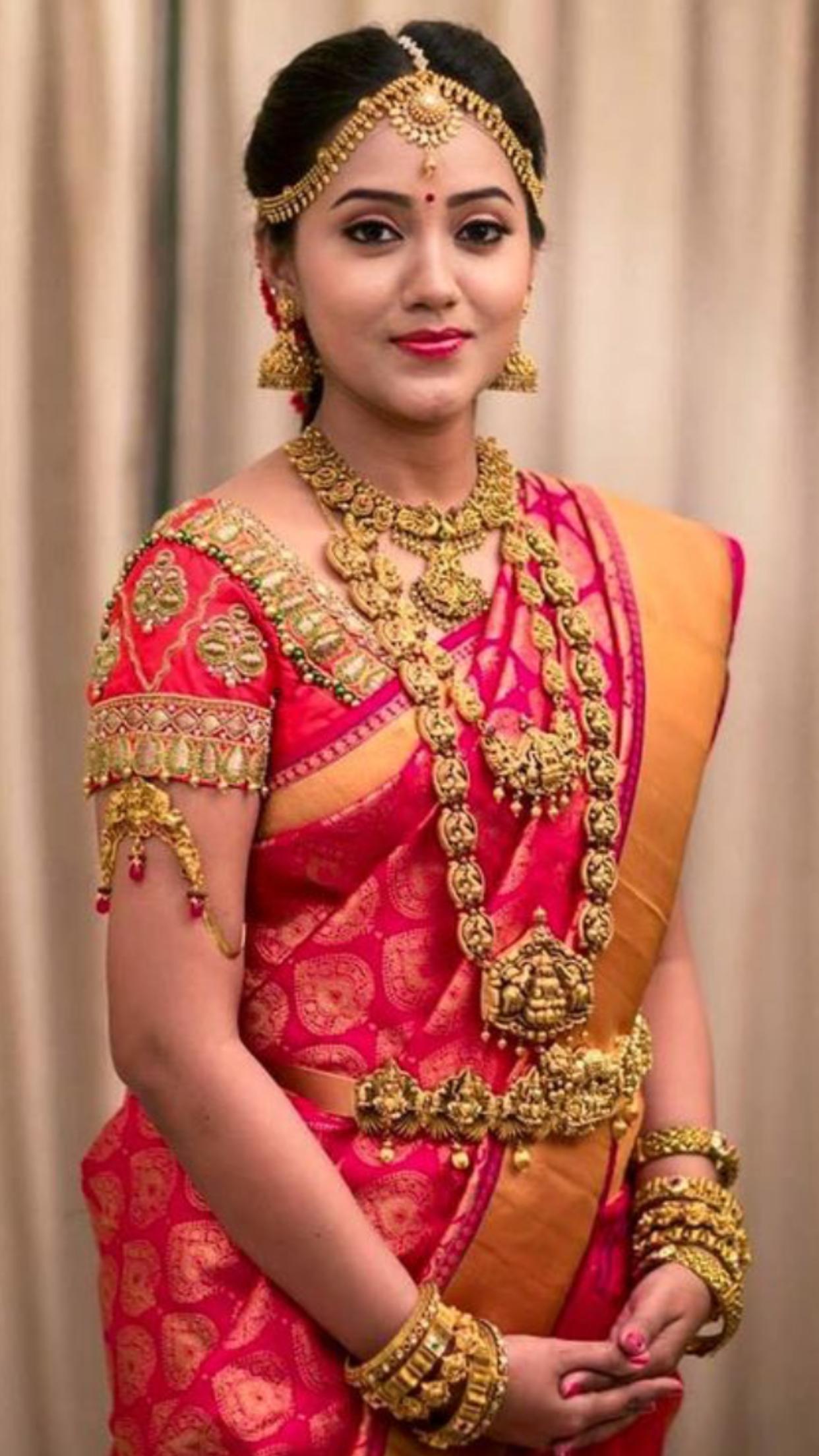 My fav shade of pink Bridal blouse designs, Indian