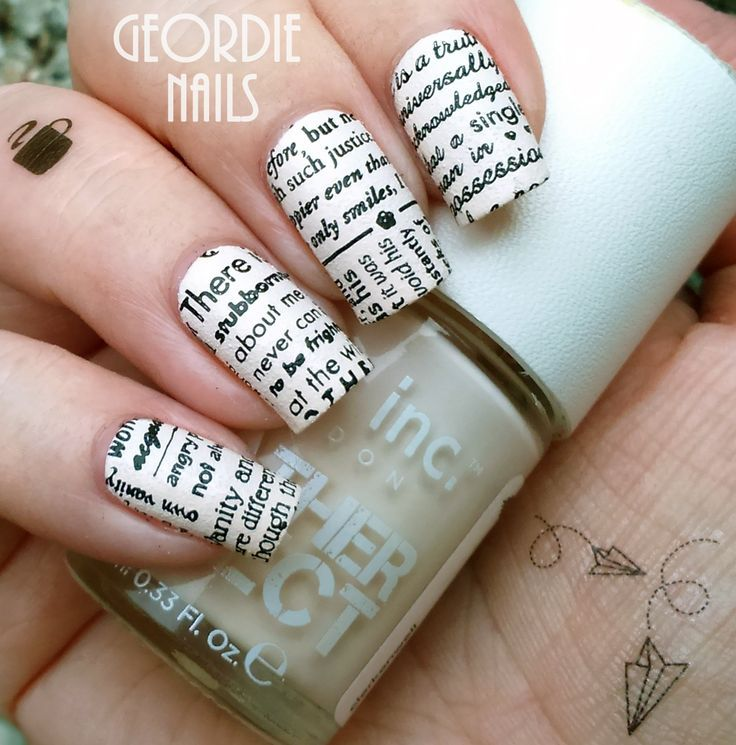 Unique DIY Newspaper Nail Art | C u t e N a i l A r t <3 | Pinterest ...