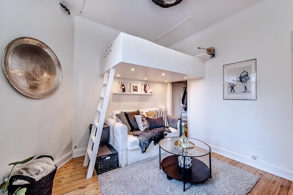 Hoogslaper voor volwassenen slaapkamer tiny