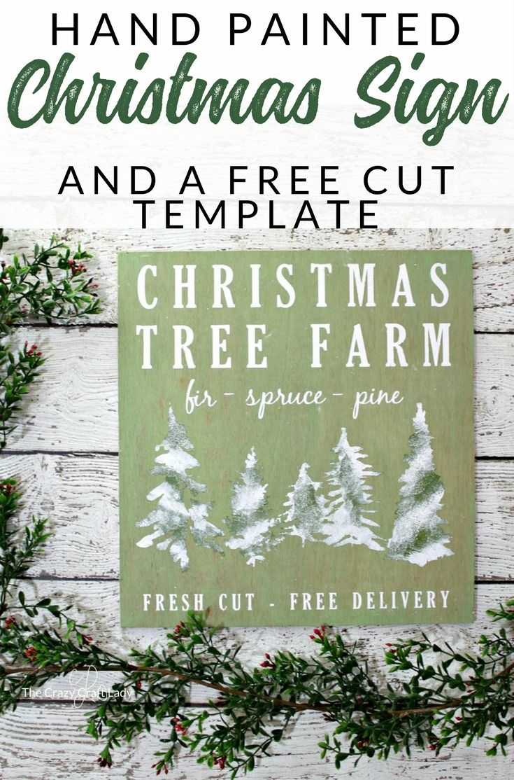 Christmas Tree Farm Sign A Cricut Project and FREE