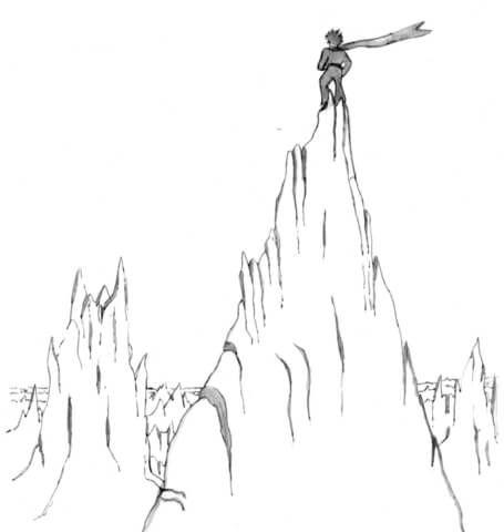 Dibujo De El Principito En La Montana Para Colorear Dibujos Para Colorear Imprimir Gratis Montanas Dibujo El Principito Libro De El Principito