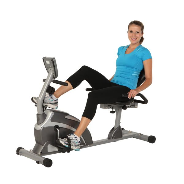 Exerpeutic 1000 High Capacity Magnetic Recumbent Bike with Pulse - Overstock™ Shopping - Great Deals on Exerpeutic Exercise Bikes