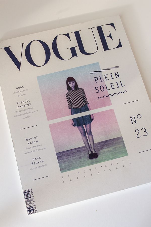Cover layout design / Vogue Book Design Pinterest Editorial