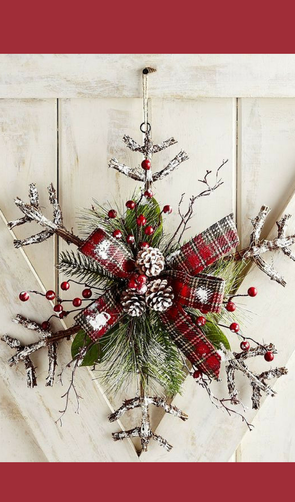 pretty snowflake door decor love the simplicity for our small home christmasdecor handmade affiliate