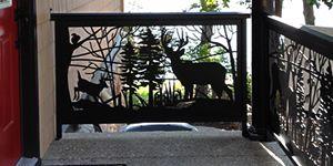 Decorative railing panel inserts for custom metal railing ...