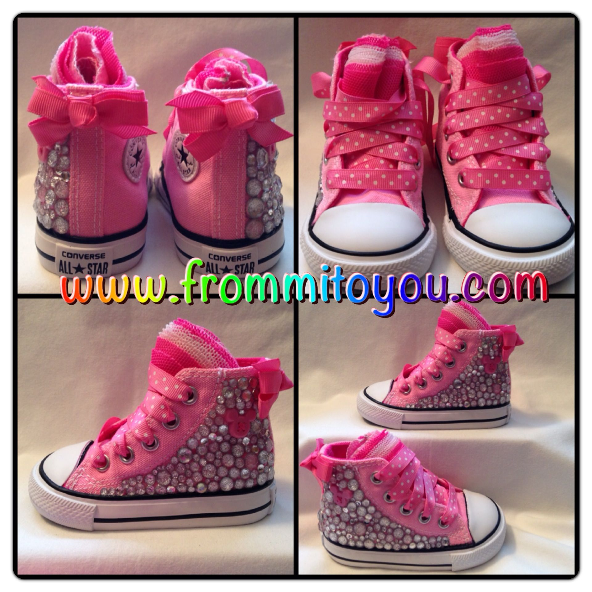 2cc13cce98c52 Embellished Canvas Shoes #shoes #converse #chucktaylor #bling #kids ...