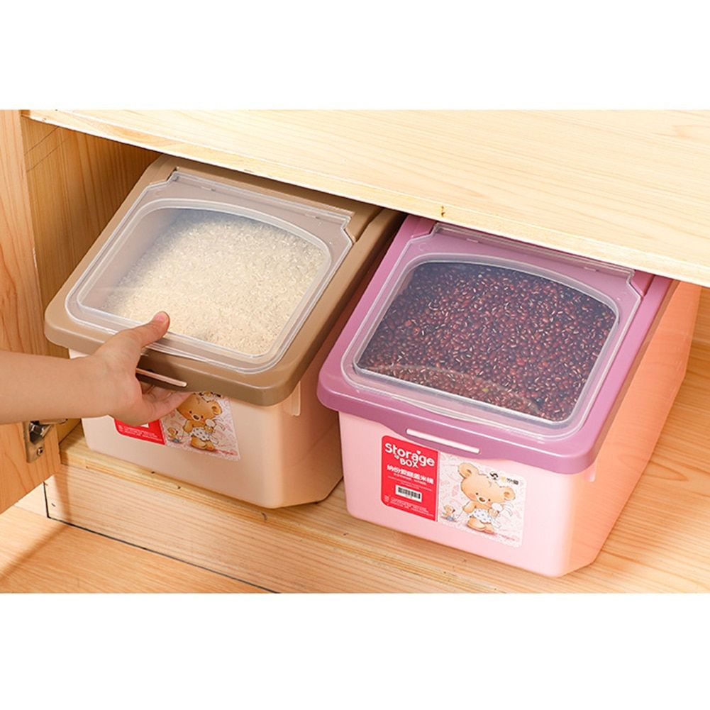 Storage Box 5kg 10kg 15kg Plastic Sealed Moisture Proof Container With Large Capacity On Aliexpress Com Dry Food Storage Storage Cereal Dispenser