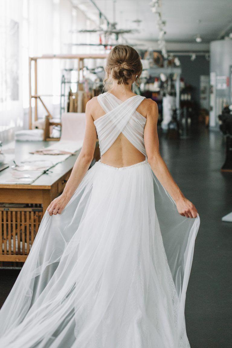 Sina Fischer 19  Brautkleid rückenfrei, Hochzeit kleid